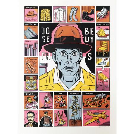 Screen Print 'Joseph Beuys' by Jakob Hinrichs
